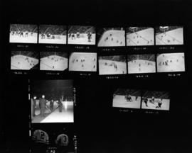 Ceremonial puck drop and Vancouver Canucks WHL hockey game in Pacific Coliseum
