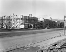 [Apartment buildings under construction along Cambie Street at W. 23rd Avenue]