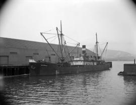 [The 'Southholm' at dock]