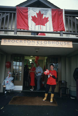 Brockton Point Clubhouse entrance during the Centennial Commission's Canada Day celebration