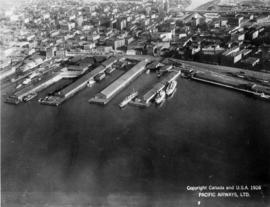 [View of Vancouver waterfront showing Union Dock]