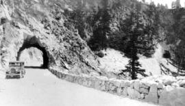 The tunnels on the Cariboo Hiway