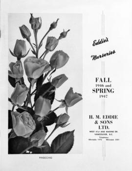 Eddie's Nurseries Fall, 1946 and Spring 1947 catalogue cover
