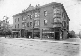 [Exterior of the Charleson Block on the southeast corner of Pender Street and Burrard Street]