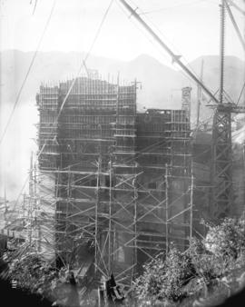 [Scaffolding and equipment for construction of Buntzen Lake Power Plant number two]