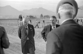 [William Aberhart and Mayor G.G. McGeer at Hastings Park]