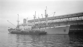 M.S. Horda [at dock, at Ballantyne Pier]