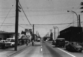 Aspect looking east along Prior Street with subject property [Iberica Garage and Northland Cafe 2...