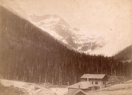 [View of Glacier House and Sir Donald Peak]