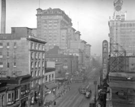 Granville Street looking north from Smithe