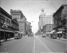 [View of Granville Street, looking north from Smithe Street]