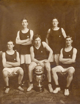 """C"" Company, 6th D.C.O.R. Basket Ball Champions, Vancouver Garrison - Winners of McTavi..."