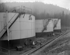 [B.A. Oil Company holding tanks]