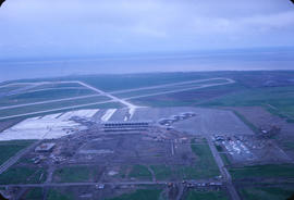 Aerial view of Vancouver airport, Sea Island