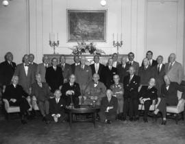 Round Table 90th Birthday Luncheon for Sir Francis Heathcote and W.H. Malkin, group photo