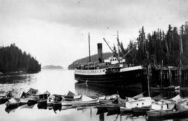 "Union S.S. ""Camosun"" bringing supplies to a salmon cannery"