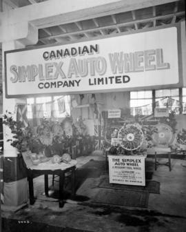 Canadian Simplex Auto Wheel Co. display of wheels