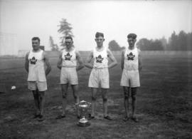 Athletes - weight lifters [from the Vancouver Police Mutual Benevolent Association]