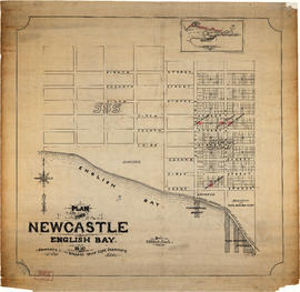 Plan of the town of Newcastle, English Bay