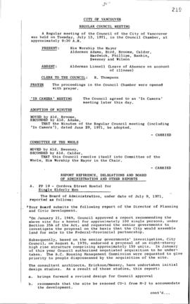 Council Meeting Minutes : July 13, 1971
