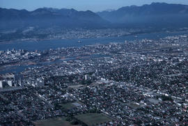 Aerial shot [of Vancouver]