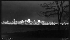 Fairyland, B.C. [View of the West End and downtown Vancouver taken at night from Jericho Beach.]