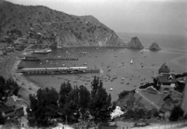 [View of Avalon Harbor at Santa Catalina Island]