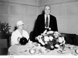 Edward and Mary Lipsett at formal tea