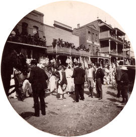 [Parade in Chinatown on Fisgard Street, Victoria B.C.]