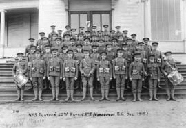 """No. 3 Platoon"" 62nd Batt[alion] C.E.F. (Vancouver)"
