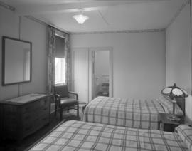 [Interior view of a room at the Olympic Hotel]