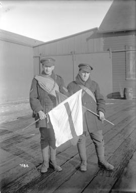 "Two signallers - 259th Battalion - ""C"" Company"