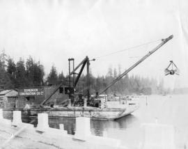 [Dominion Construction Company dredging coal harbour for the causeway construction]