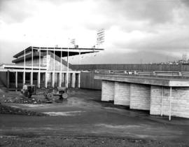 Exterior of bleachers, Empire Stadium