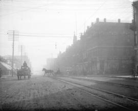 [Carriages on Columbia Street, New Westminster]