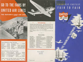 Shortest - fastest : fair to fair : United Air Lines : side 1