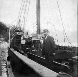 "[Captain Percy Nye on deck of the Union S.S. ""Coquitlam""]"