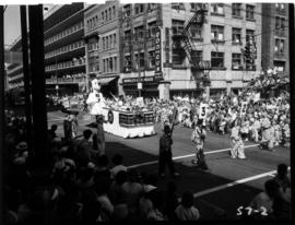 CKNW float in 1957 P.N.E. Opening Day Parade