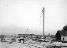 [Construction of railway overpass in Grandview-Woodland]