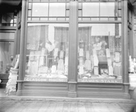 [Storefront of second Stark's Glasgow dry goods store on Cordova Street]