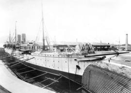 "[C.P.R. ""Empress of Japan"" in dry dock]"