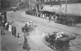 [Part of motorcade during Theodore Roosevelt's visit to Vancouver]