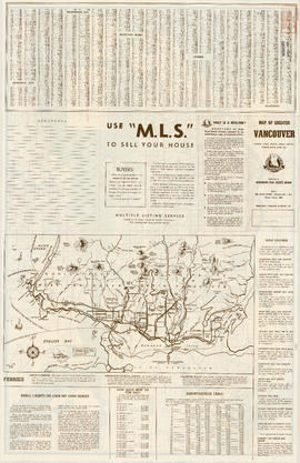 Map of West Vancouver and North Vancouver, street index, real estate information, and list of gol...