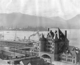 C.P.R. Depot and Entrance to Harbor, Vancouver