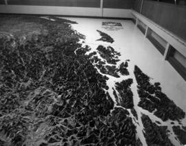 Challenger relief map of British Columbia in P.N.E. B.C. Building
