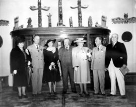 Vancouver Mayor J.W. Cornett, Premier T.D. Pattullo, V.E.A. President J. Dunsmuir, and Edward and...