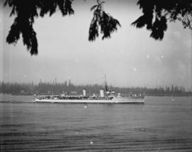 Royal Navy vessel entering Burrard Inlet
