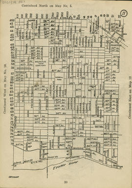 Sectional map and street directory of Vancouver : [King Edward Avenue to Ontario Street to Fraser...