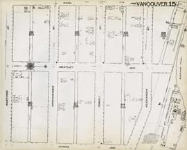 Plan of Vancouver, 1889 [fire map] : [Burrard Inlet to Carl Avenue to Hastings Street to Hawks Av...