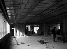 Construction of new office building: interior framing